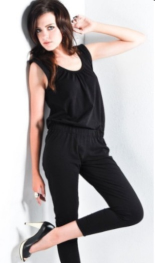 7th ave effortless fold-over sleeve harem jumpsuit, $48